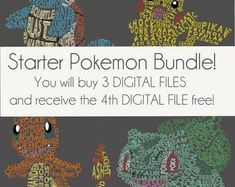 Starter Pokemon DIGITAL FILE Bundle