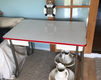 Red Kitchen Table Etsy