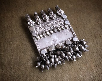 ANTIQUE Rajasthani Old silver pendant