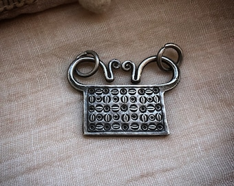 Antique silver AKHA Hill Tribe Spirit lock