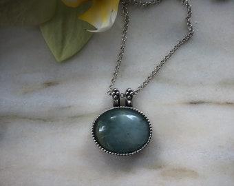 AQUAMARINE pendant by Bella Angora