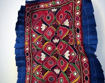 Hand embroidered vintage PAKISTANI tote bag