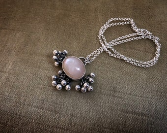 Light Peach Moonstone TASSLE Necklace
