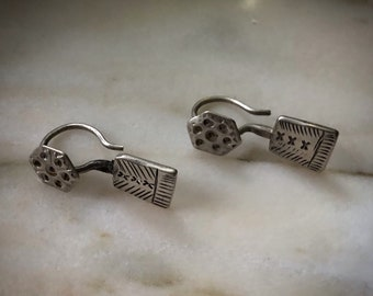 Super cute vintage SILVER earrings from Pakistan