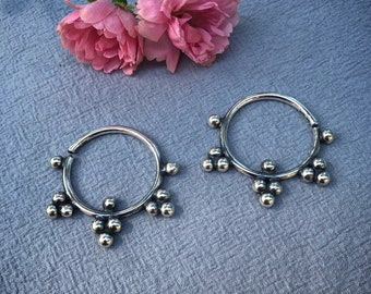 Sterling silver earrings for stretched ears