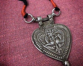 Vintage PEACOCK Silver Pendant