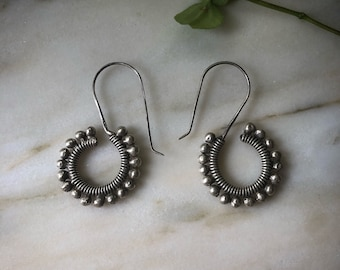Sterling silver HILL TRIBE Earrings from northern Thailand