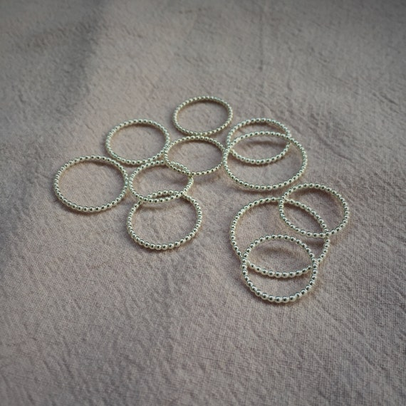 SILVER DOT Stackable Ring