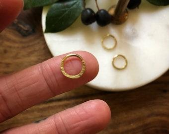 18 K Solid fair trade GOLD septum