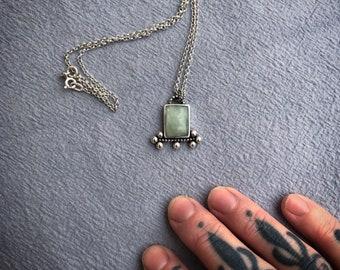 AQUAMARINE Silver Amulet