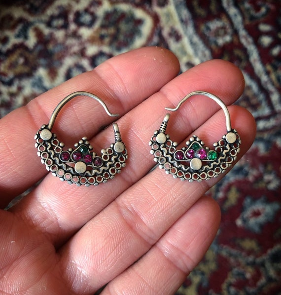 Cute small old Silver EARRINGS from pakistan