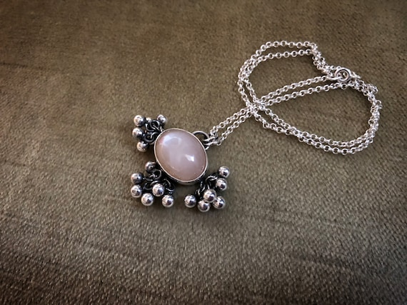 Light Peach Moonstone TASSLE Necklace