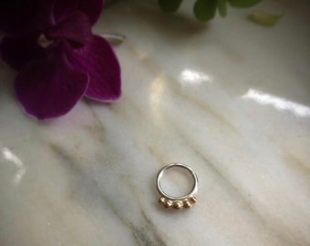 Silver and gold septum