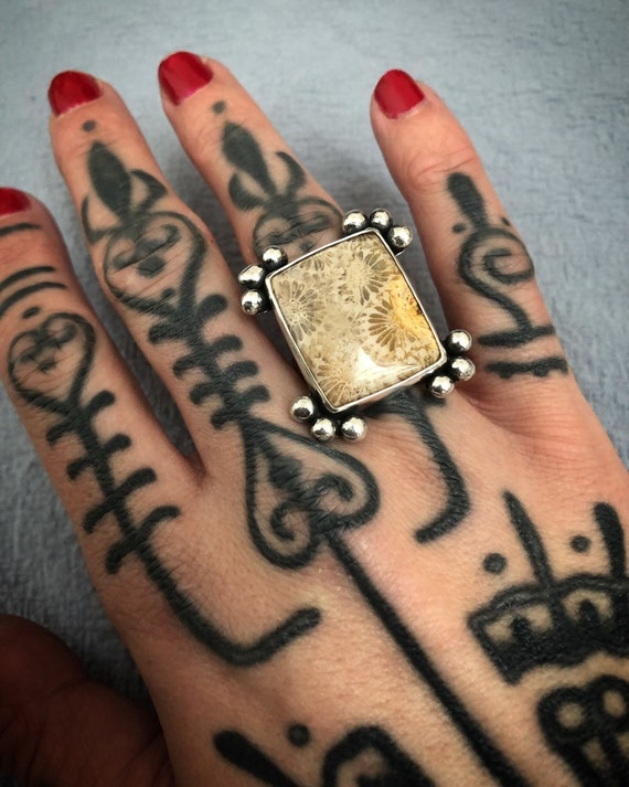 Fossiled CORAL Ring