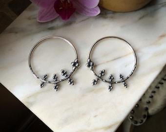 Sterling silver earrings for streched ears