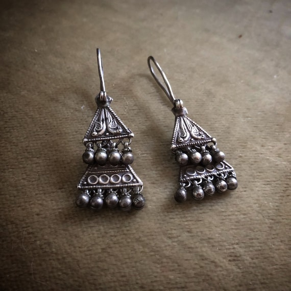 RAJASTHANI Vintage old silver Earrings