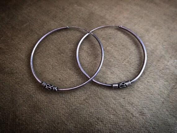 Vintage BALINES silver earrings