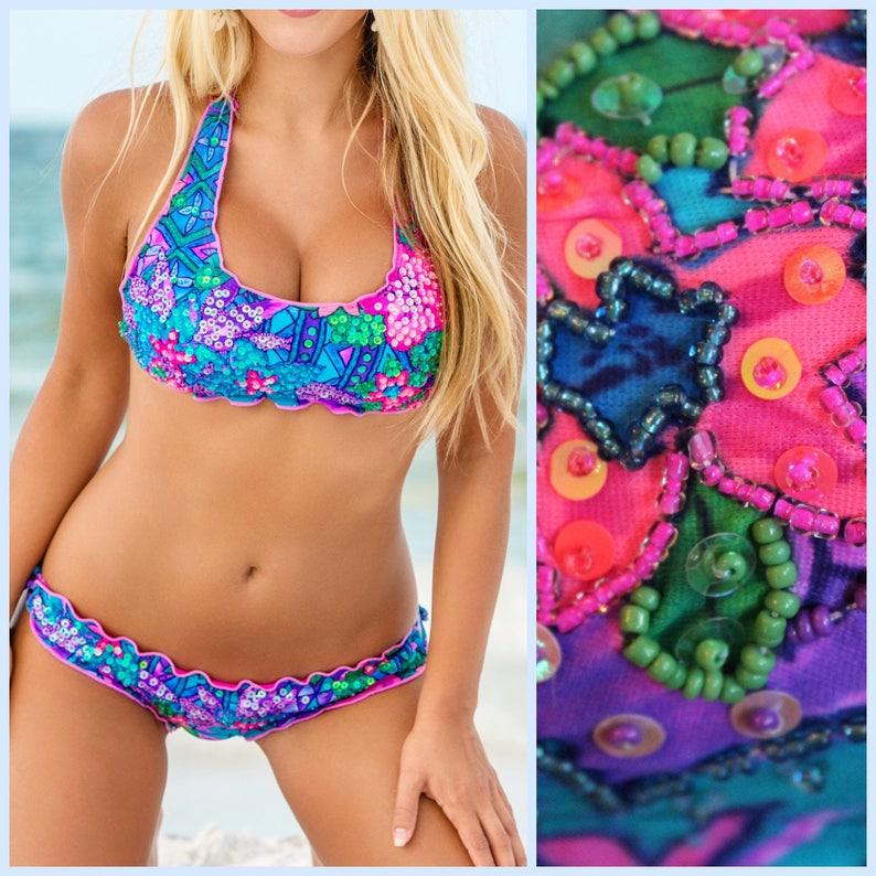 Cute Bikini Surf Bikini Colorful Bikini unique bikini image 0