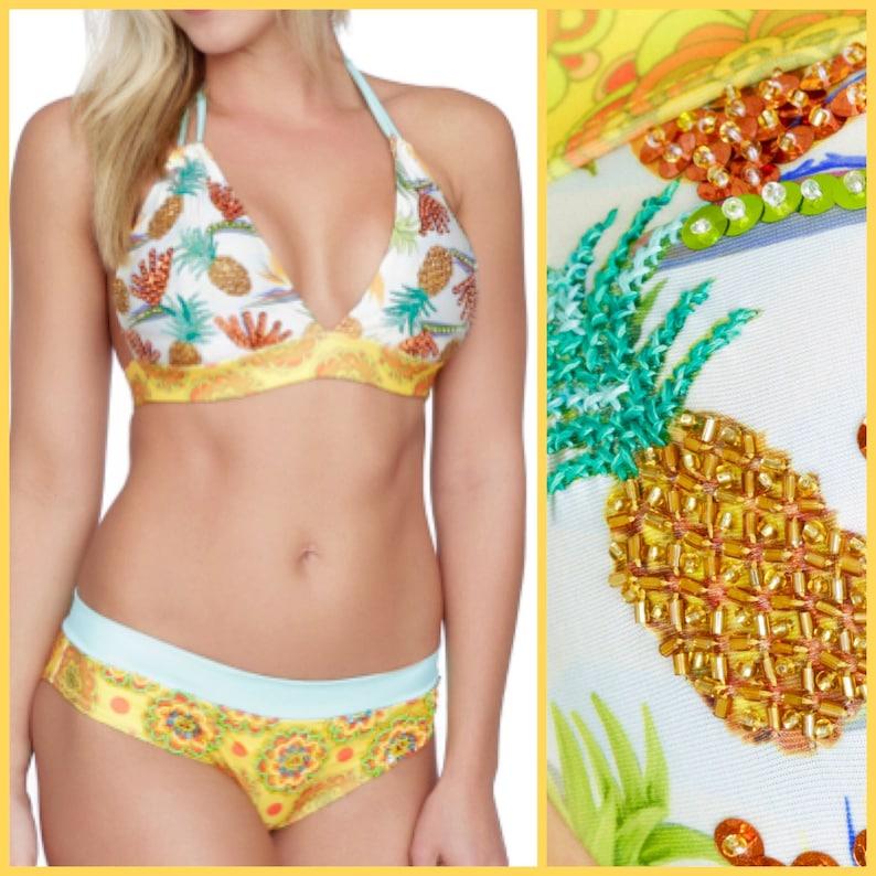 7d461884f91 Tropical Bikini Pineapple Bikini bikini set swimwear Cute