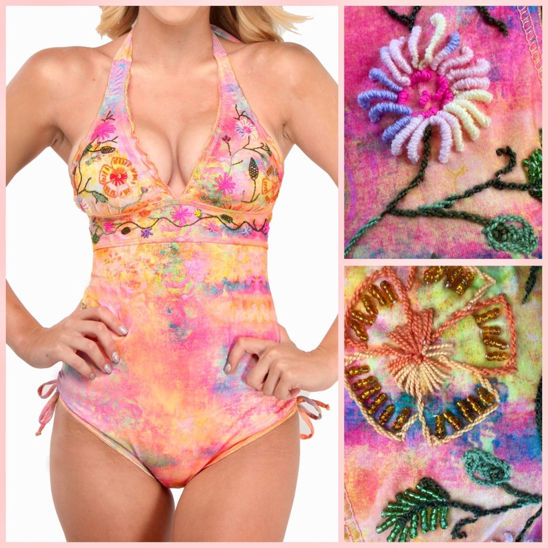Watercolor Monokini Swimsuit  Watercolor and Floral image 0