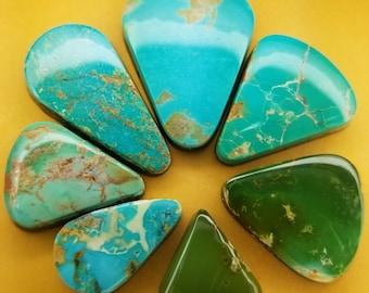 49.60 ct 100/% Natural Royston Ribbon Turquoise Cabochon Gemstone # DV 007