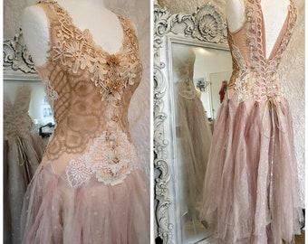 3b9bc64ade7 Boho wedding dress rose