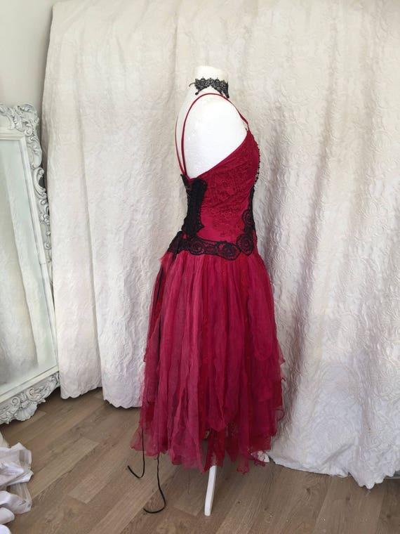 wedding dress bridal backs rawrags steampunk gypsy dress dres red dress wedding Wedding gown open red wedding red red dress wedding boho IAzFTYx