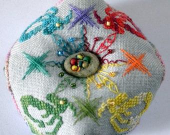 Elemental Dragon Biscornu Pattern
