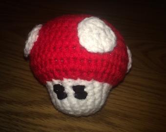 Amigurumi Mario Brothers Grow Mushroom Plush Toy