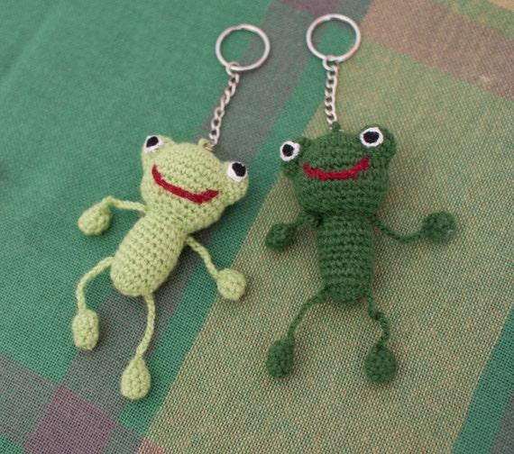 Keychain Frosch Amigurumi Frosch Gefüllt Frosch Häkeln Etsy