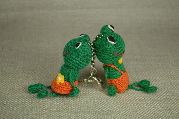 Keychain Frosch Amigurumi Frosch Gefüllte Frosch Häkeln Etsy