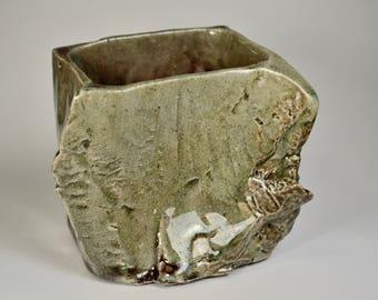 """Salt Fired """"Stone"""" Vase"""