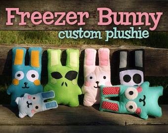 Cute and kawaii Freezer Bunny - Grim Bunny - Alien Bunny - plushie plush animal rabbit