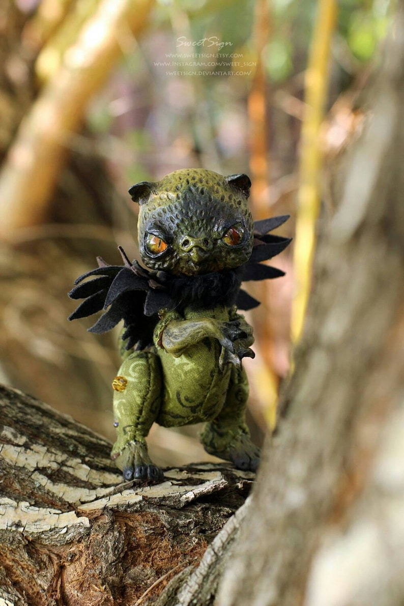 Jungle Griffin OOAK posable doll gift spirit fantasy creature  c7a822ea30015