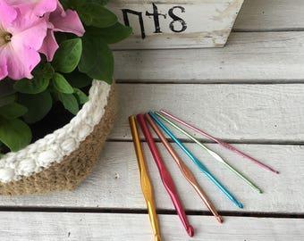 Set crochet hooks-6 crochet hooks-hook-hook amenities-hobby-crafts