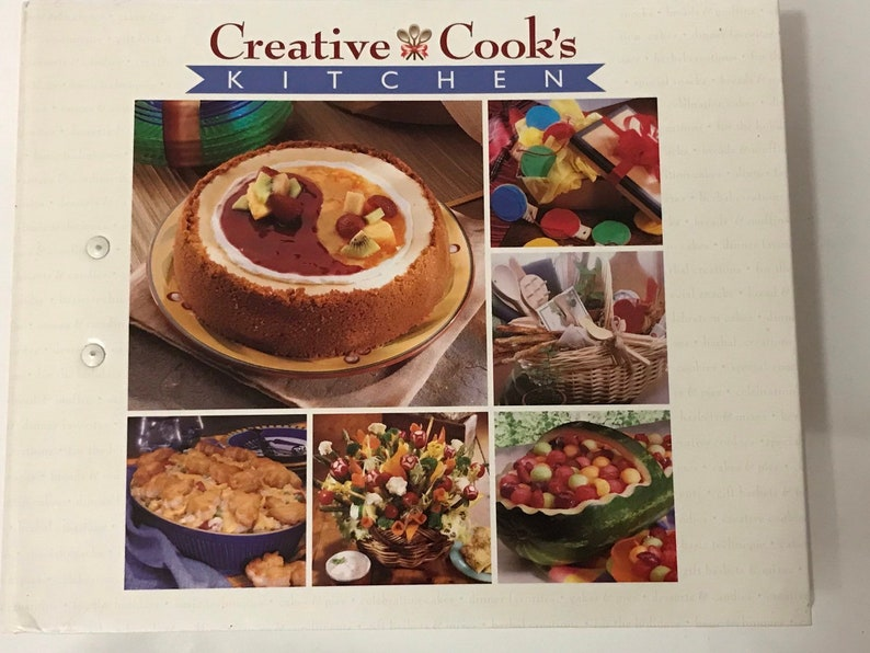 Creative Cook S Kitchen Recipe Binder Cookbook Allison Taylor 1998 3 Ring Binder Of Recipes With Colored Tabs International Masters Pub