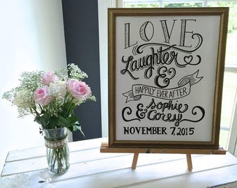 Love, Laughter, & Happily Ever After Sign