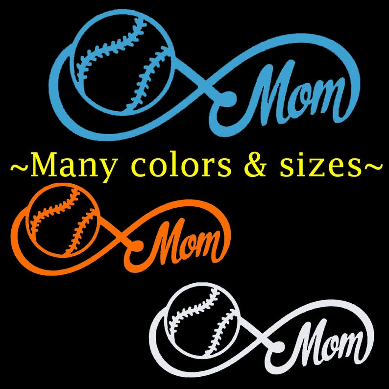 Color /& Size Personalized Baseball Softball Name Vinyl Decal Sticker Car Window
