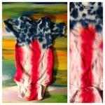 Flag Tie Dye Onesie USA
