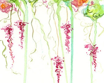 Abstract Floral 5x7 Giclee Print of Original Artwork