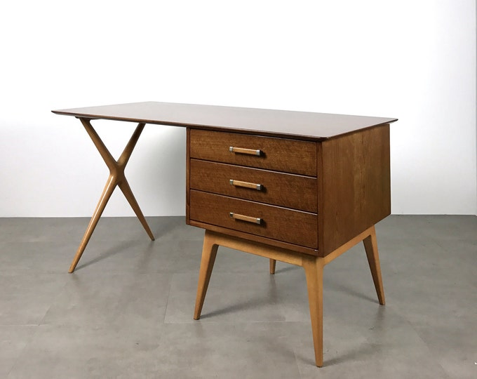 ON HOLD Renzo Rutili For Johnson Furniture Vintage Partners Desk 1960's