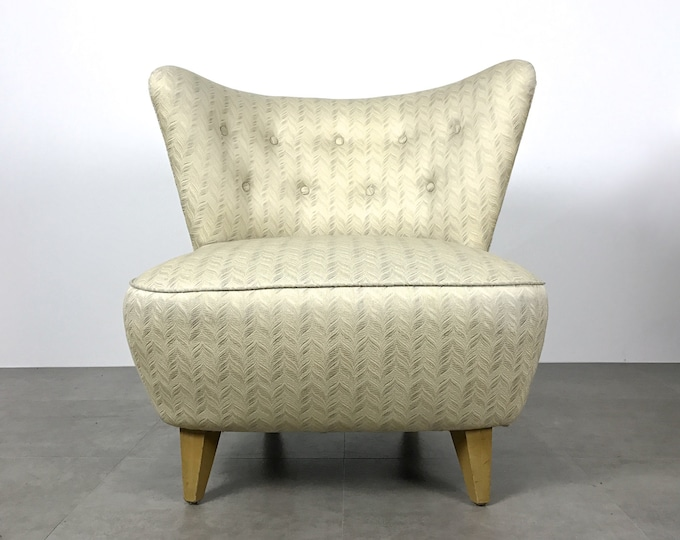 Vintage Gilbert Rohde Style Wingback Slipper Lounge Chair