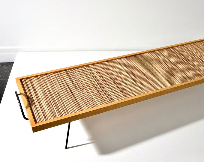 William Katavolos Ross Littell and Douglas Kelley Laverne Bench or Low Table 1940s