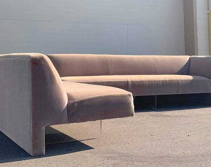Vladimir Kagan Omnibus Lucite Sectional Sofa 1970's