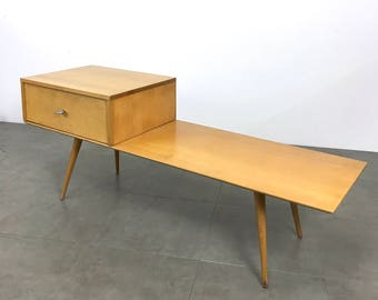 Vintage Paul McCobb Planner Group Bench & Single Drawer Cabinet