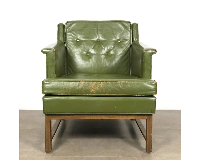 Vintage Edward Wormley for Dunbar Petite Lounge Chair in Leather 1950's