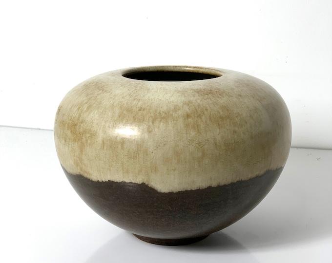 Rare Alvino Bagni Large Earth Tone Vase 1960's