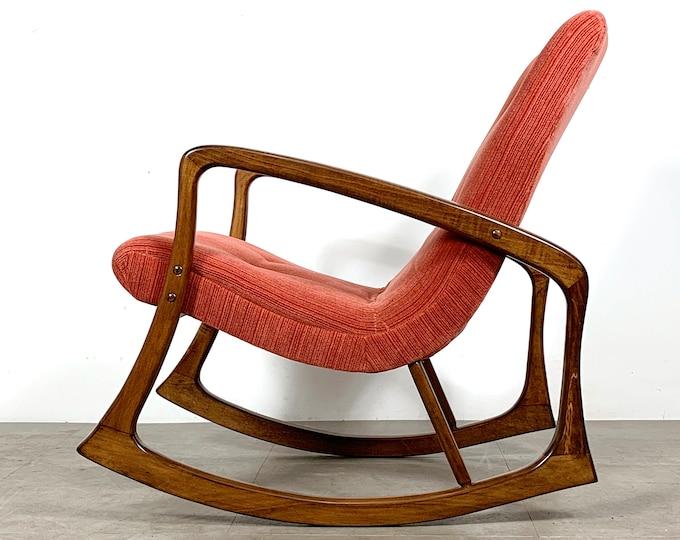 Vintage Vladimir Kagan Style Rocking Chair 1960's