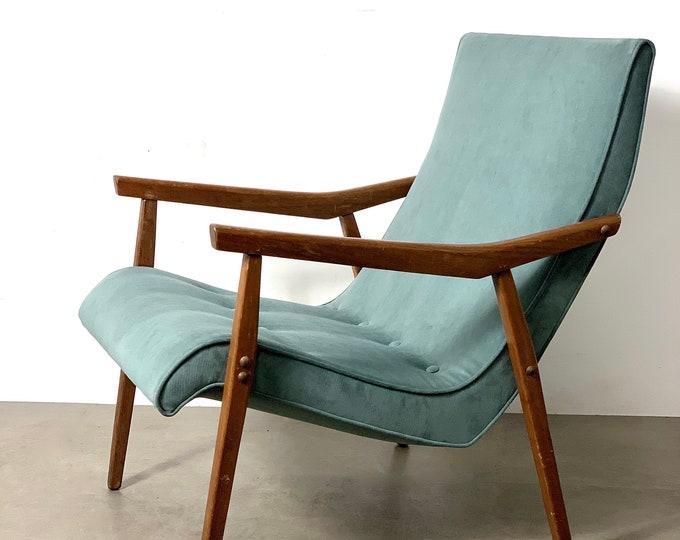 Milo Baughman for Thayer Coggin Walnut Lounge Chair 1950's