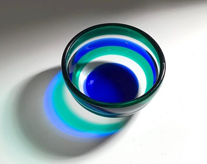 Fulvio Bianconi Venini Glass Bowl 1950's